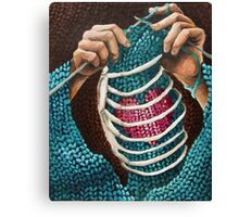 Knitted Love Canvas Print