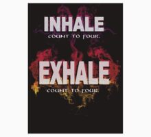 Inhale Exhale (White text) One Piece - Short Sleeve