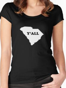 South Carolina Yall Women's Fitted Scoop T-Shirt