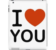 I Love You Instead of NY or New York iPad Case/Skin