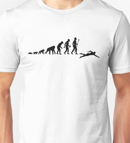 Swimming Evolution Of Man Unisex T-Shirt