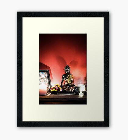 Offerings to the Buddha Framed Print