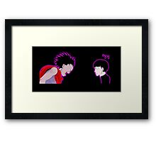 Tetsuo Vs Mob Framed Print