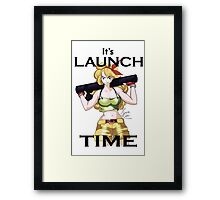 Launch Time Framed Print