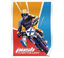Motocross - Push Over The Limit WPAP Poster