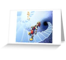 sora and nanime divine steps Greeting Card