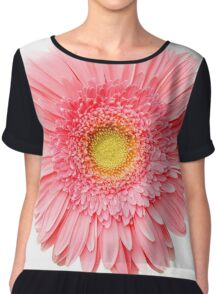 Flower Power, Pink Fresh Gerbera Chiffon Top