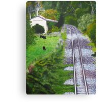 Omokoroa Railway Station, New Zealand Canvas Print