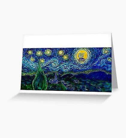 A Screaming Night Greeting Card