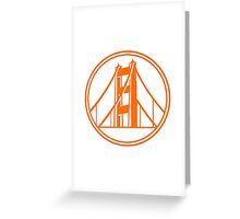 Golden Gate Golden State Greeting Card