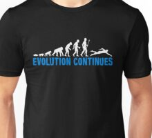 Evolution Of Man And Swimming T Shirt Unisex T-Shirt