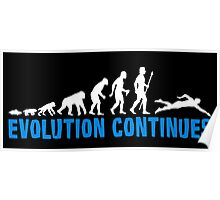 Evolution Of Man And Swimming T Shirt Poster