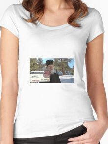 Brother Nathanael: Blank Check Women's Fitted Scoop T-Shirt