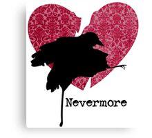 Nevermore Fusha Violet Canvas Print