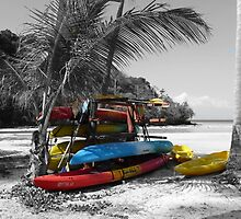 Selective Boats on Ko Phi Phi Island by Sue Gurney