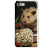 Hamster write a poem iPhone Case/Skin