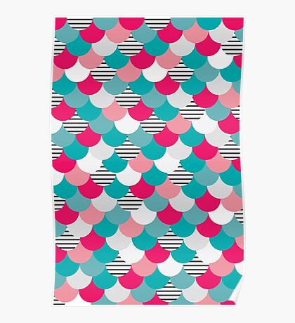 Scale Pattern Poster