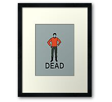 Dead Red Shirt Framed Print