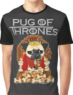 PUG OF THRONES Graphic T-Shirt