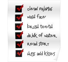 bedtime checklist Poster