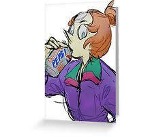 Pearl - Crystal Pepsi Greeting Card