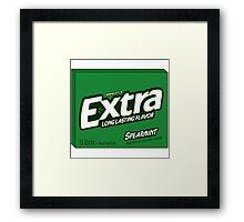 Extra Spearmint Gum Framed Print