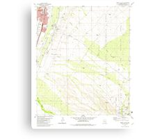 USGS TOPO Map Arizona AZ Green Valley 311573 1981 24000 Canvas Print