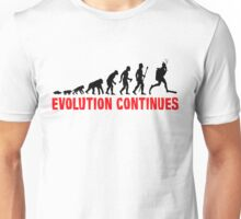 Scuba Diving The Evolution Of Man Continues  Unisex T-Shirt