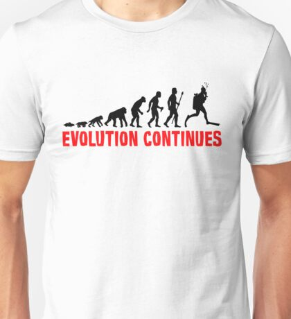 Scuba Diving The Evolution Of Man Continues  Unisex T-Shirt