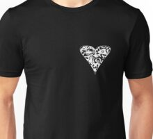 Meh's Gothic Heart (White) Unisex T-Shirt