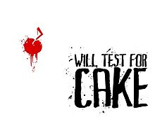 Will Test For Cake: Portal Photographic Print