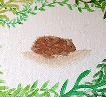 Woodland Hedgehog by ameliabliss