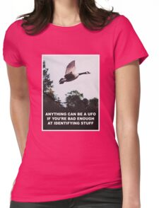 Anything can be a UFO Womens Fitted T-Shirt