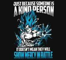 Songoku - Show Mercy In Battle Blue Unisex T-Shirt