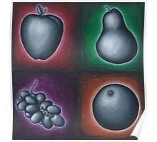 Four Fruits Poster