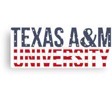 Texas A&M University Canvas Print