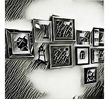 Wall of frames Photographic Print