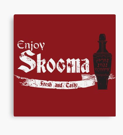 Enjoy Skooma: The Elder Scrolls Canvas Print