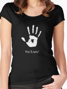 Dark Brotherhood - We Know Women's Fitted Scoop T-Shirt