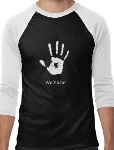 Dark Brotherhood - We Know Men's Baseball ¾ T-Shirt