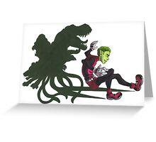 TT: Beast Boy Greeting Card