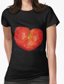 Strawberry of Heart Womens Fitted T-Shirt