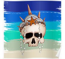 Mermaid Skull Poster