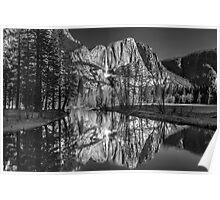 Yosemite Falls B&W Poster