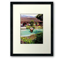 Tea Garden, Photo / Digital Painting Framed Print