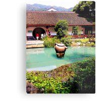 Tea Garden, Photo / Digital Painting Metal Print