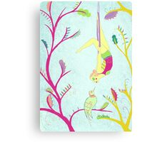 The Aerialist and the Bird Canvas Print