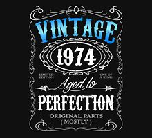 Vintage 1974 aged to perfection 42nd birthday gift for men 1974 birthday Unisex T-Shirt