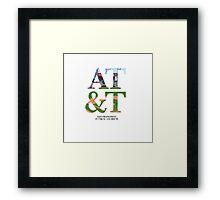 AT&T Coordinates Framed Print