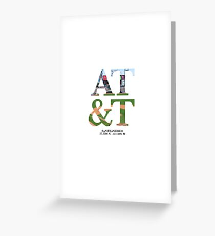 AT&T Coordinates Greeting Card